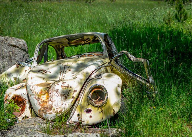 El coche de empresa en siniestro total